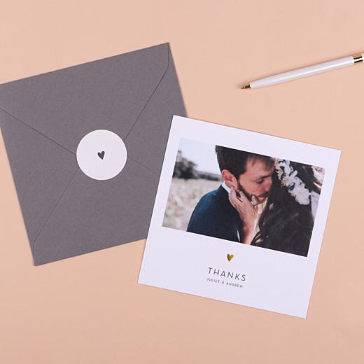 Wedding Envelope Stickers Elegant heart white - Gamme