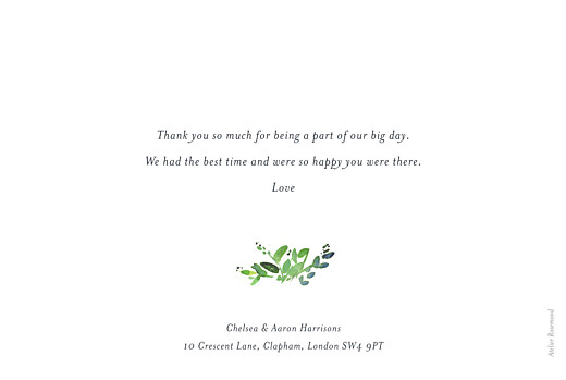 Wedding Thank You Cards Canopy green - Page 2
