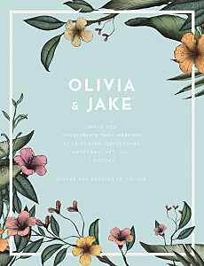 Aloha tropical wedding invitations