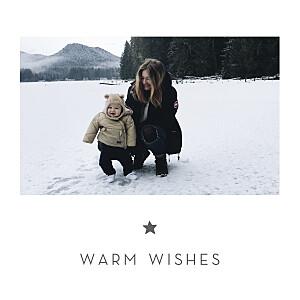Elegant star white christmas cards