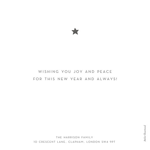 Christmas Cards Elegant star white - Page 2