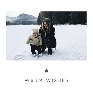 Elegant star (4 pages) white new year christmas cards