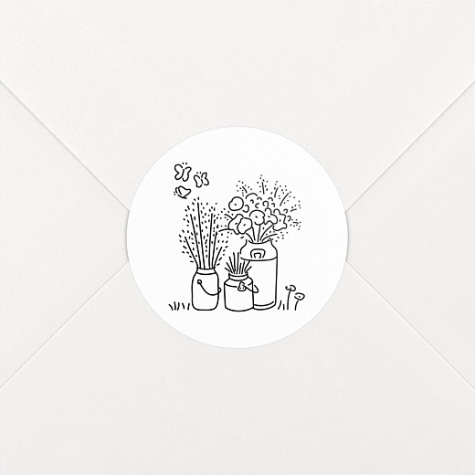 Wedding Envelope Stickers Bohemian promise white - View 2