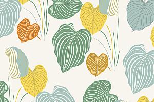 Tropical garden beige notecards