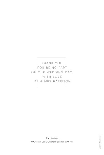 Wedding Thank You Cards Foil frame white