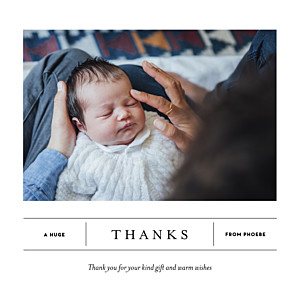 Breaking news 2 photos white baby thank you cards
