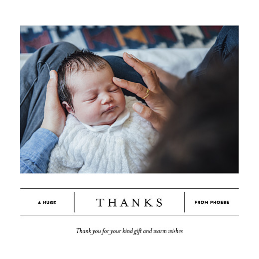Baby Thank You Cards Breaking news 2 photos white