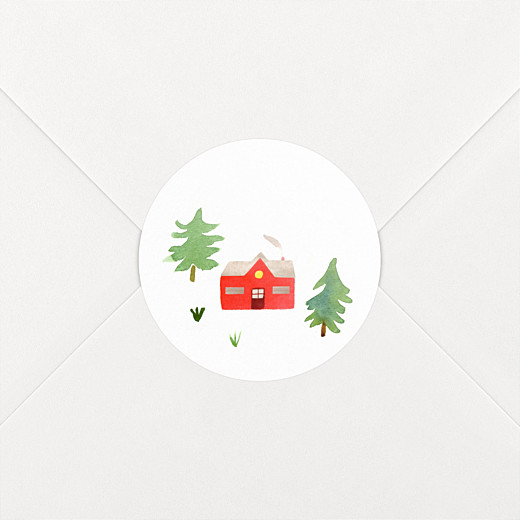 Christmas Stickers Evergreen green red - View 2