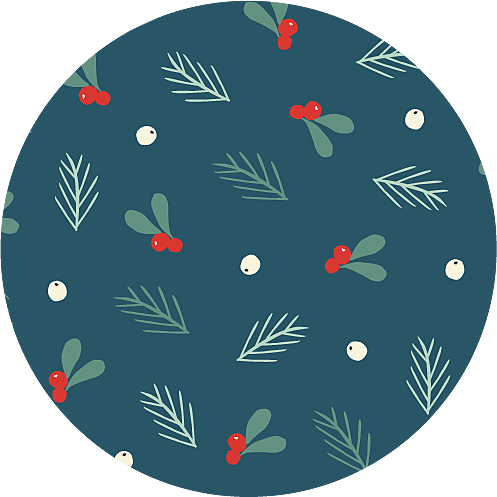Christmas Stickers Merry & bright blue