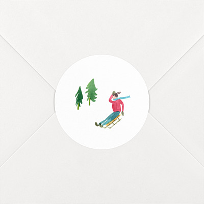 Alpine luge christmas stickers