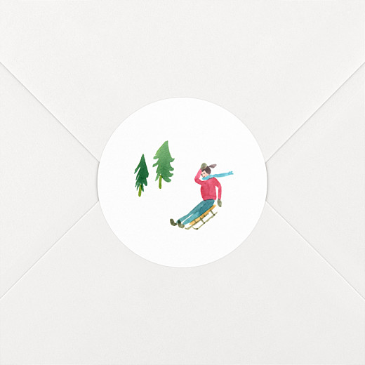Christmas Stickers Alpine luge - View 2