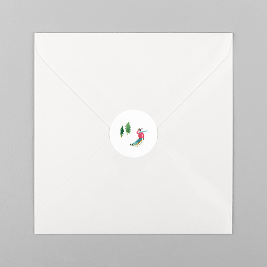 Christmas Stickers Alpine luge - View 1