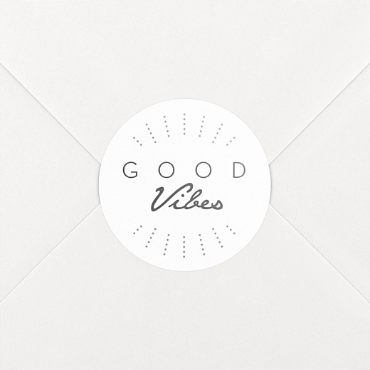 Christmas Stickers Good vibes white - View 2