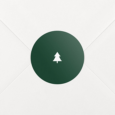 Elegant sapling green christmas stickers