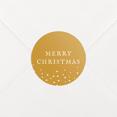 Souvenir yellow christmas stickers