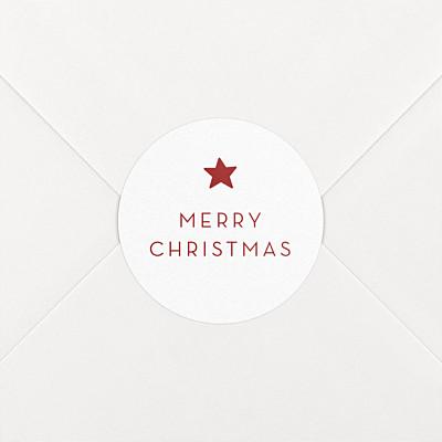 Elegant star red christmas stickers