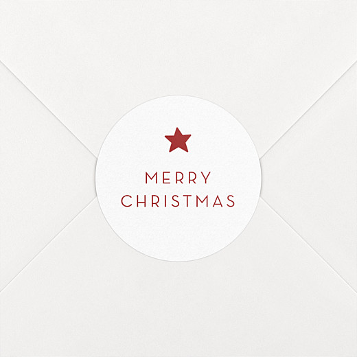 Christmas Stickers Elegant star red - View 2