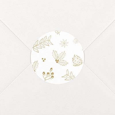 My winter garden sand christmas stickers