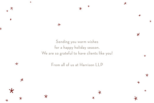 Business Christmas Cards Lovely stars red - Page 3