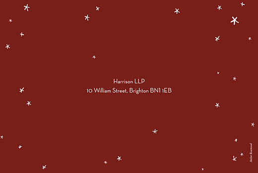 Business Christmas Cards Lovely stars red - Page 4