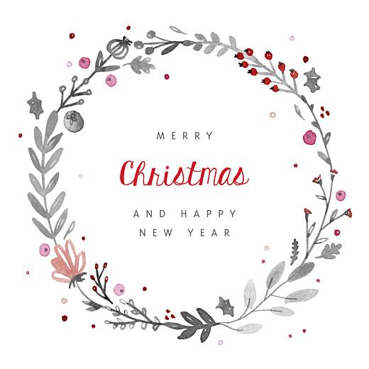 Business Christmas Cards Christmas crown white
