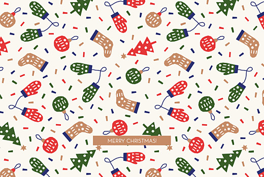 Business Christmas Cards Christmas pattern beige