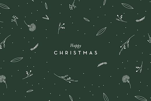 Business Christmas Cards Festive foliage green