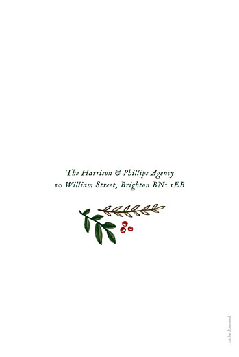 Business Christmas Cards Retro christmas green - Page 4
