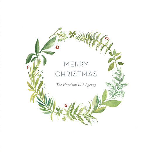 Business Christmas Cards Forest whisper green