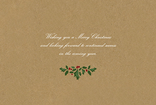 Business Christmas Cards Boughs of holly kraft - Page 3