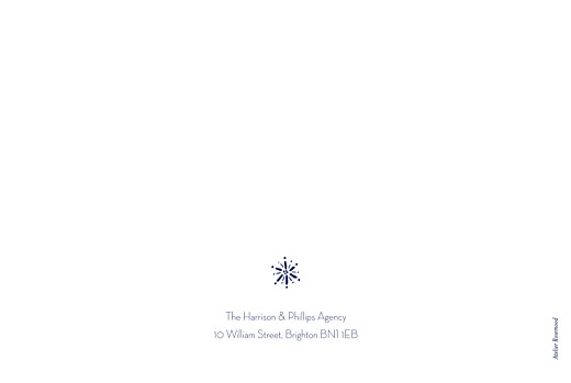 Business Christmas Cards Winter wonderland blue - Page 4