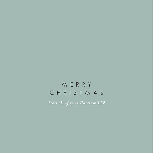 Business Christmas Cards Peace & joy (foil) green - Page 1