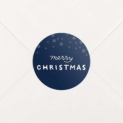 Christmas Stickers Holiday flurries blue - View 2