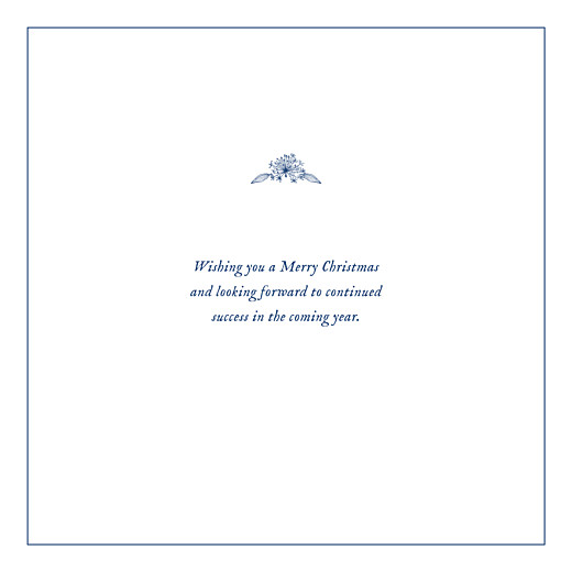 Business Christmas Cards Natural chic (foil) blue - Page 3