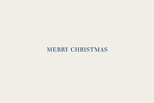 Business Christmas Cards Natural chic landscape (foil) blue