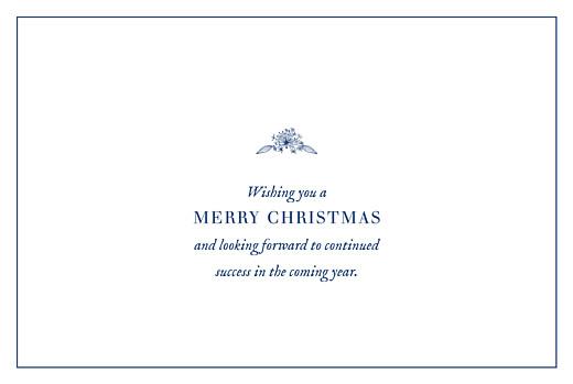 Business Christmas Cards Natural chic landscape (foil) blue - Page 3