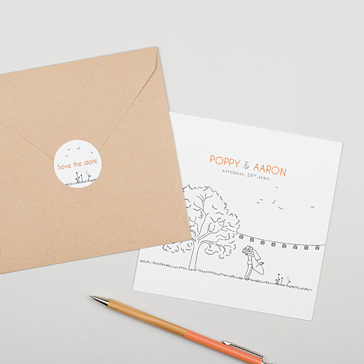 Wedding Envelope Stickers Rustic promise white - Gamme