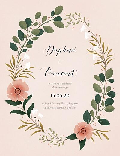 Wedding Invitations Daphné spring finition