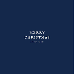 Constellations (foil) navy blue business christmas cards