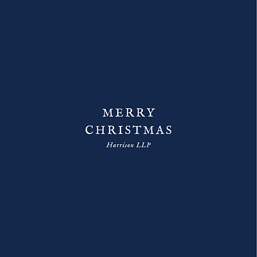 Business Christmas Cards Constellations (foil) navy blue