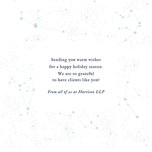 Business Christmas Cards Constellations (foil) navy blue - Page 3