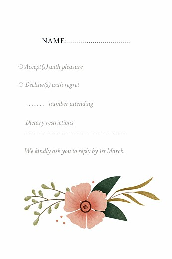 RSVP Cards Daphné spring - Page 2