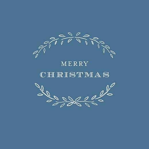 Business Christmas Cards Poem blue