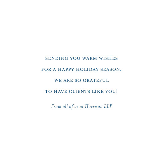 Business Christmas Cards Poem blue - Page 3