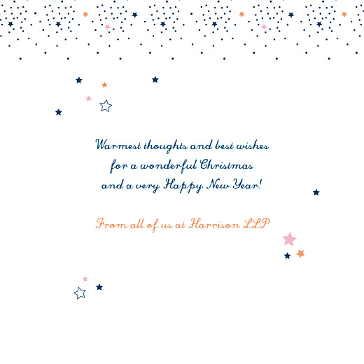 Business Christmas Cards Dainty stars blue - Page 3