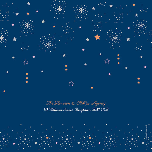 Business Christmas Cards Dainty stars blue - Page 4