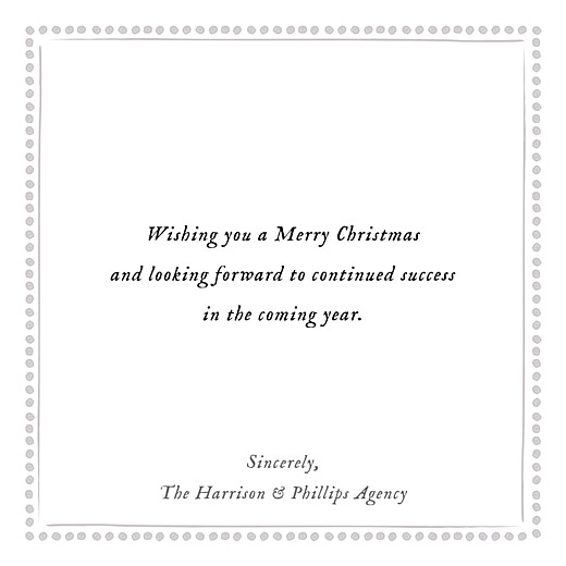 Business Christmas Cards Holiday border grey - Page 3