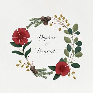 Daphné (4 pages) winter grey wedding invitations