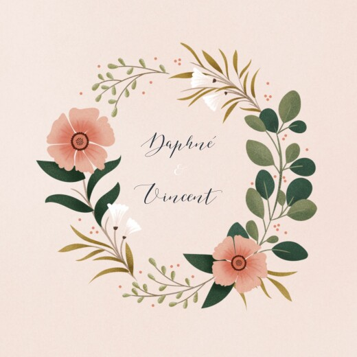 Wedding Invitations Daphné (4 pages) spring
