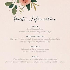 Daphné (square) spring guest information cards